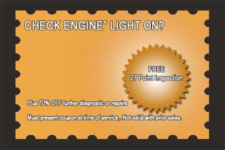 Check Engine Light Code Diagnostic Service